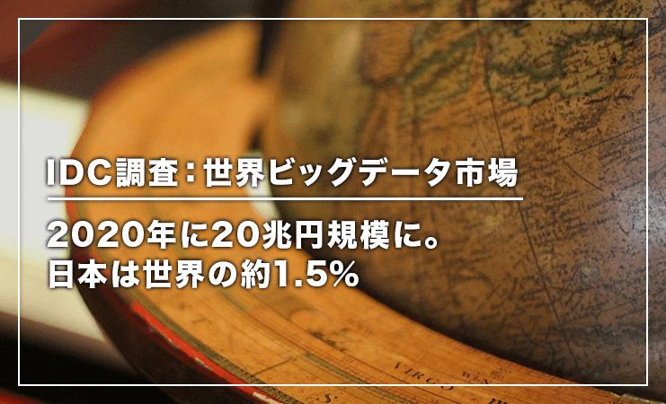 IDC調査:世界ビッグデータ市場は2020年に20兆円規模に。日本は世界の約1.5% | 株式会社プリンシプル